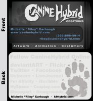CanineHybrid Business Cards by CanineHybrid