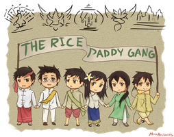 Ask the Rice Paddy Gang!! by Ask-Laos