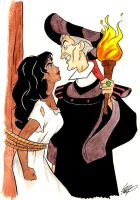 Frollo and Esme by animangachik