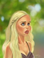 Daenerys-caricature-small by LyleDoucetteArt