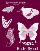 Butterfly brush Set CS2 by NajlaQamber