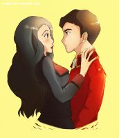 Iroh and Asami by elevenji