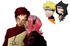 Kisses for Gaara by saturn9calina