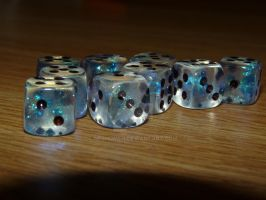 Sparkly Dice by Neshomeh