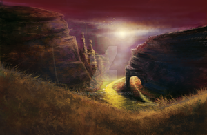 Canyon Concept Art by wideturn