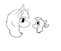 Bad sketch of Zecoya and Olive by iW-O-L-F