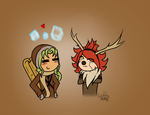 IE FROZEN: Midorikawa and Nagumo|Kristoff and Sven by dyddycat