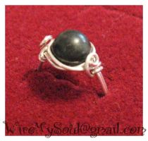 Black and Silver Ring by WireMySoul