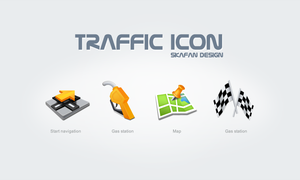 Traffic icon by skafan