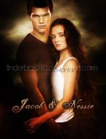 Jacob and Nessie by tinderbox210