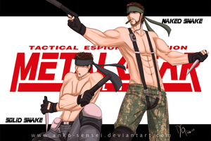 MGS_Solid-Naked_Snakes by Anko-sensei