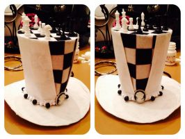 Checkmate chess top hat by magpie89