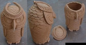 Jar Owl Large by J-Knez