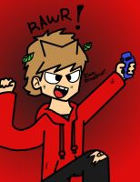Tord goes RAWR! for ArsenioKorbat by amythystanime