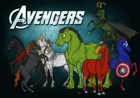 THE AVENGERS by JanieSparrow