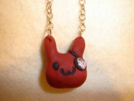 Pirate Bunny Necklace by kiddomerriweather