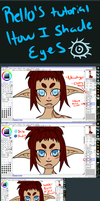 Rello's SAI Tutorial: How I Shade Eyes by R3llO