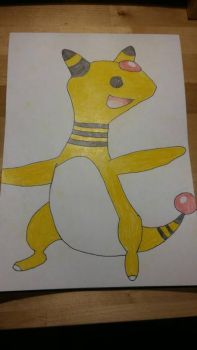 Ampharos is ready  by Jolt-The-Thunder
