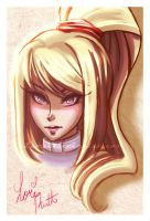 Samus Aran Portrait by LemiaCrescent