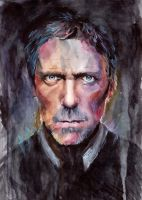 Hugh Laurie by RoofusCreatures