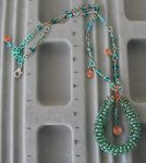 Green Coil Necklace by twig7998