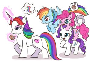 insideout and mlp's ponies!! by kongyi