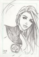 Invisible Women Sketch Card by DavidLau82
