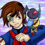 Vyse and His Chatot Mate by Sharulia