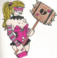 Harley Quinn as Star Sapphire by SouthTXgirl