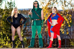 Some of the Justice League by NovemberCosplay