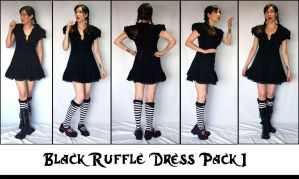 Black Ruffle Pack 1 by LongStock