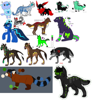 Big Adopt Batch (old characters) by XanderGirl96