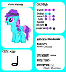CoCo Melody's refernce sheet by Cozonacel35