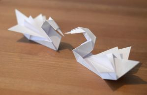 Origami Swans by Enalla