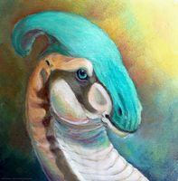 FX: portrait of Parasaurolophus by Domisea