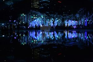 Ayala Triangle- Dancing Christmas Lights by markangelo