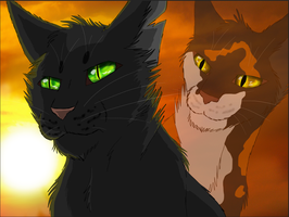 Hollyleaf and Sol by BowtieMySoul