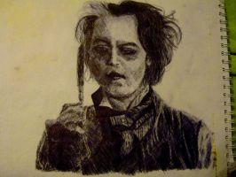 Sweeney Todd Crosshatch by wild-eyed-joker-96