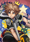 Kingdom Hearts - Sora by Fishiebug