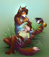 Tigress and fox comission by Imanika