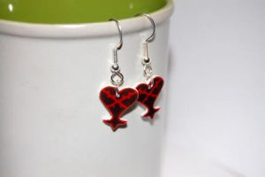 Heartless logo earrings by knil-maloon