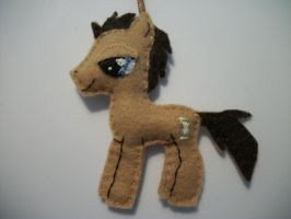 Dr Whooves Handmade Mini Felt Ornament 2 by grandmoonma