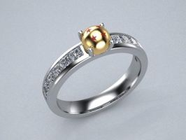Dragon ball z engagement ring concept by lupusk9