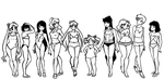 sailor body types by karynironsides