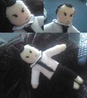 Jim Moriarty Plushie (BBC Sherlock) by BulletproofDeduction