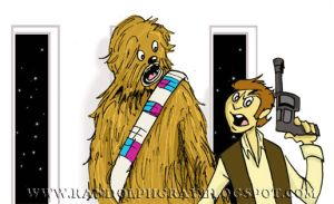 Chewie and his pal Han by regii