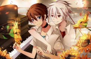 With You (Kaworu and Shinji) by Squ-chan