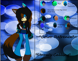 Brianna The Hedgewolf Color Refrence .:UPDATE:. by xXLava-AngelXx