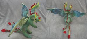 Stuffed Hideous Zippleback Dragon by Skylanth
