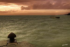 stormy sunset by gameover2009